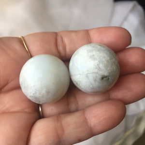 Lithium Chalcedony Spheres - Song of Stones