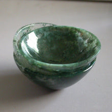 Handmade Moss Agate Crystal Bowls