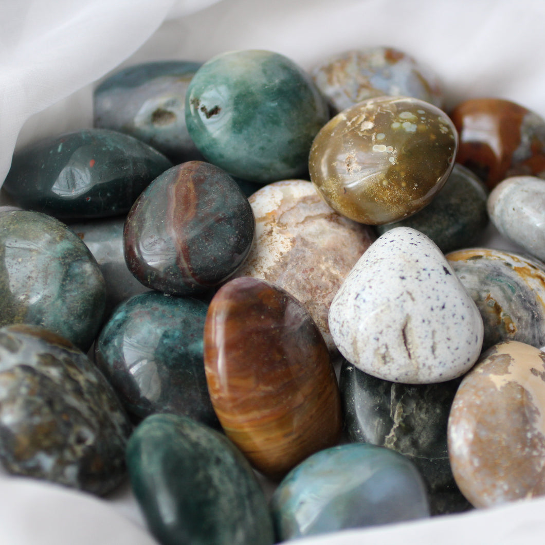 Ocean Jasper Palm Stones - Song of Stones