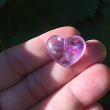 Load image into Gallery viewer, Rainbow Heart Amethyst Bead - Song of Stones