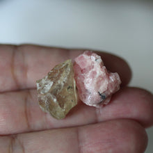 Load image into Gallery viewer, Rhodochrosite and Bytownite gem crystal duet - Song of Stones