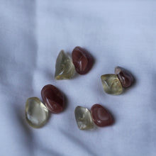 Load image into Gallery viewer, Rhodochrosite and Bytownite tumbled crystal duet - Song of Stones