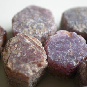 Raw Ruby Crystals - Song of Stones