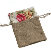 Load image into Gallery viewer, Natural Linen Pouch - Song of Stones