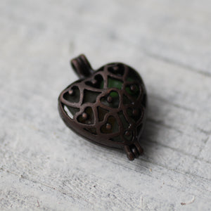 Heart Glass Pendant - Song of Stones