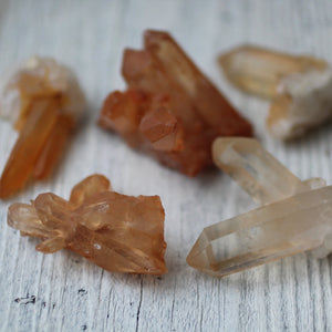 Tangerine Quartz Crystal Clusters - Song of Stones