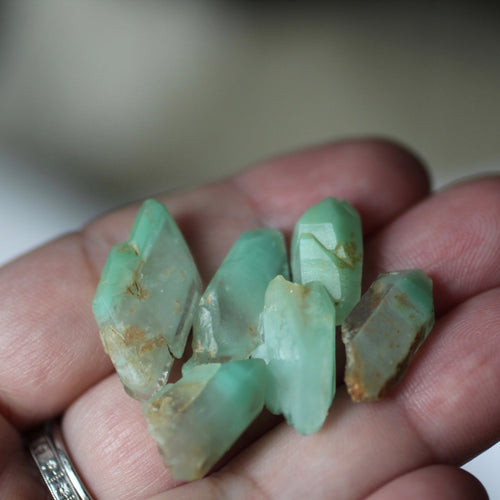 Turquoise Phantom Quartz Crystals