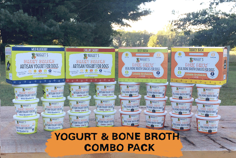 Yogurt & bone broth for pets supporting gut health