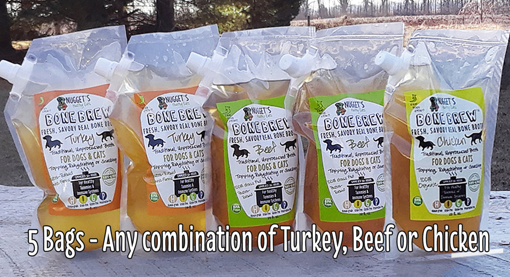 Bone Brew Bags Combo  - BEEF, TURKEY or CHICKEN