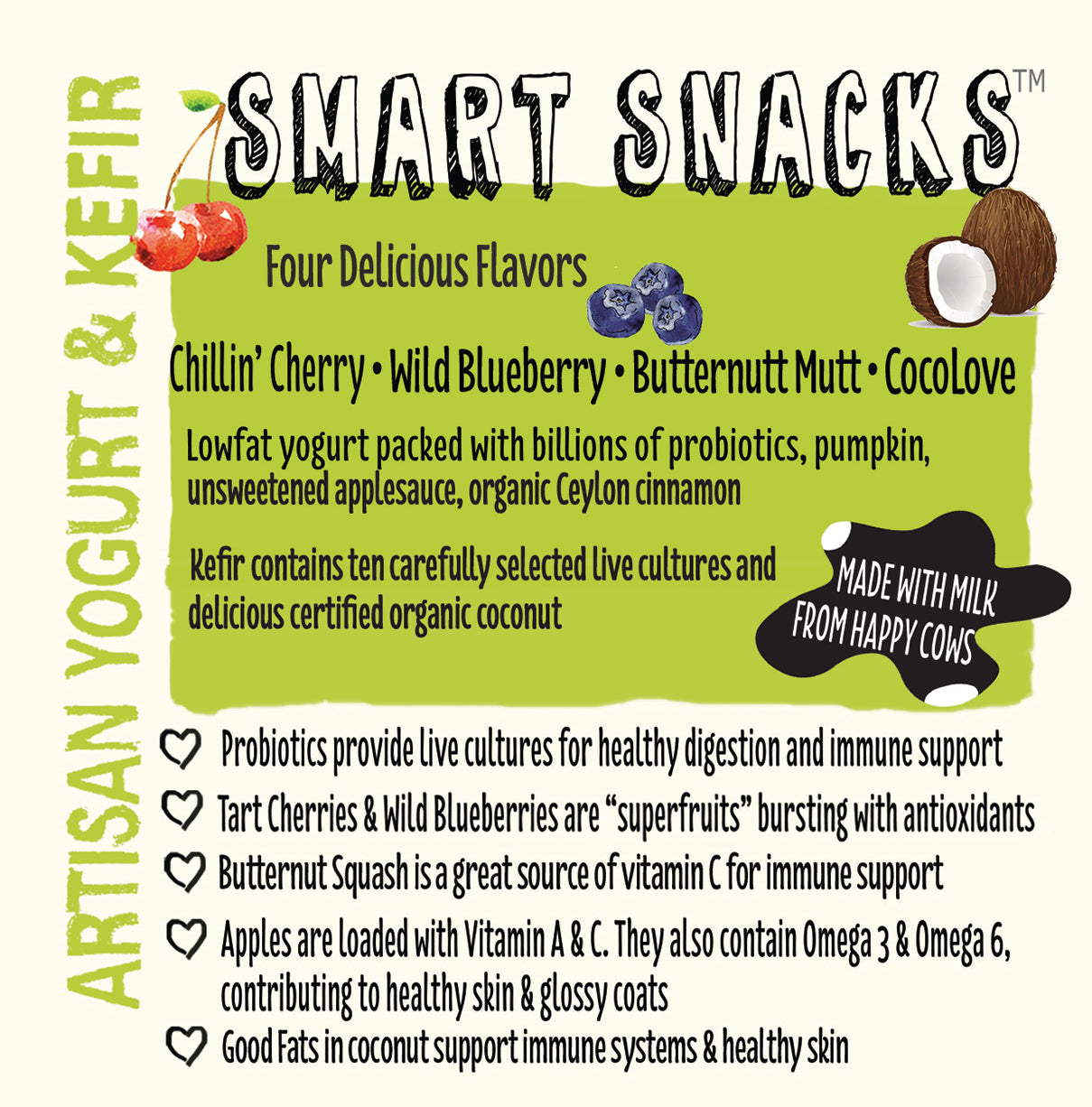 Nuggets Healthy Eats - Artisan Yogurt Label
