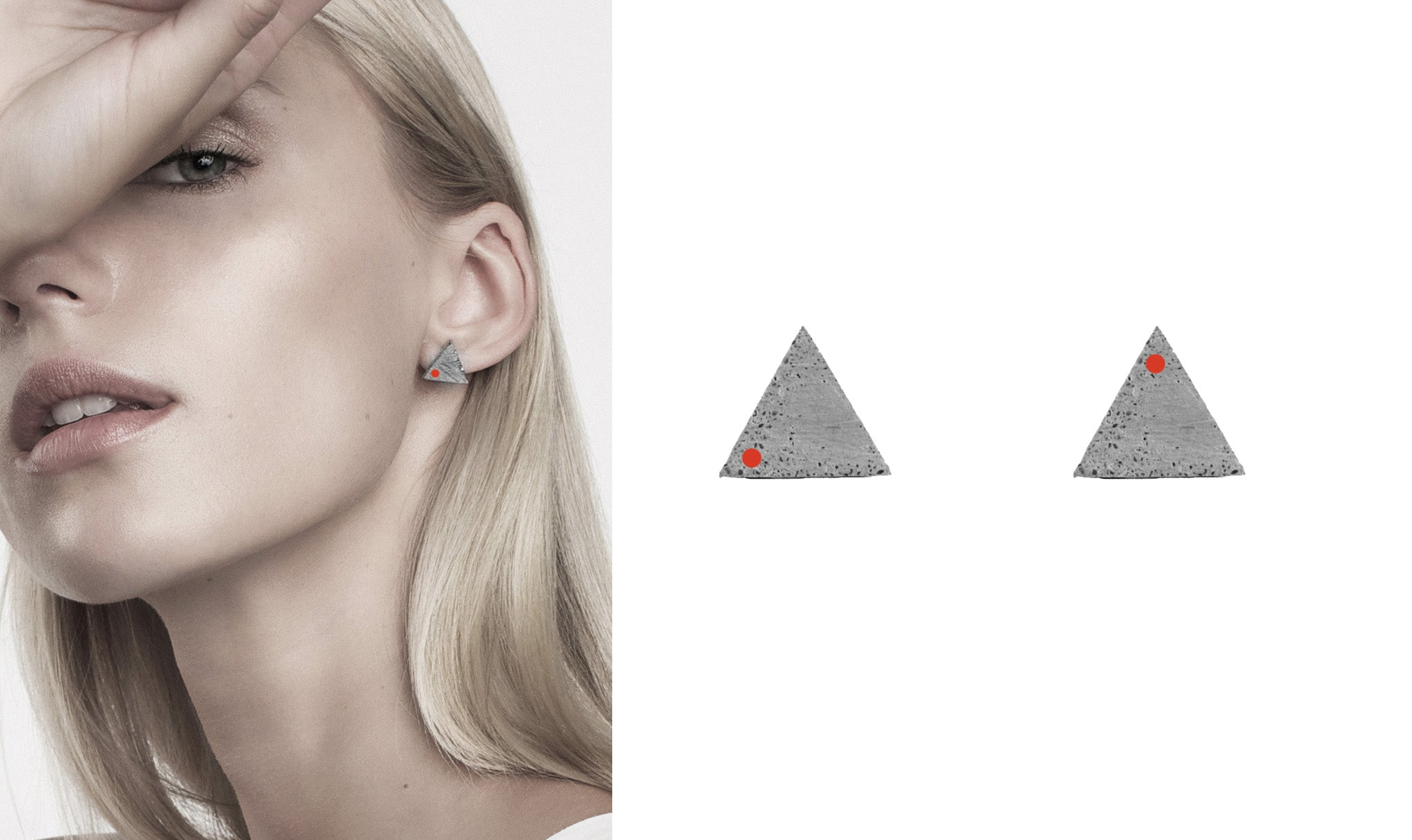 TRIANGLE earrings for MO museum