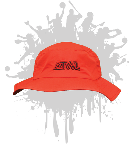 ATWL Bucket Hat  3-D RED/BLACK/RED