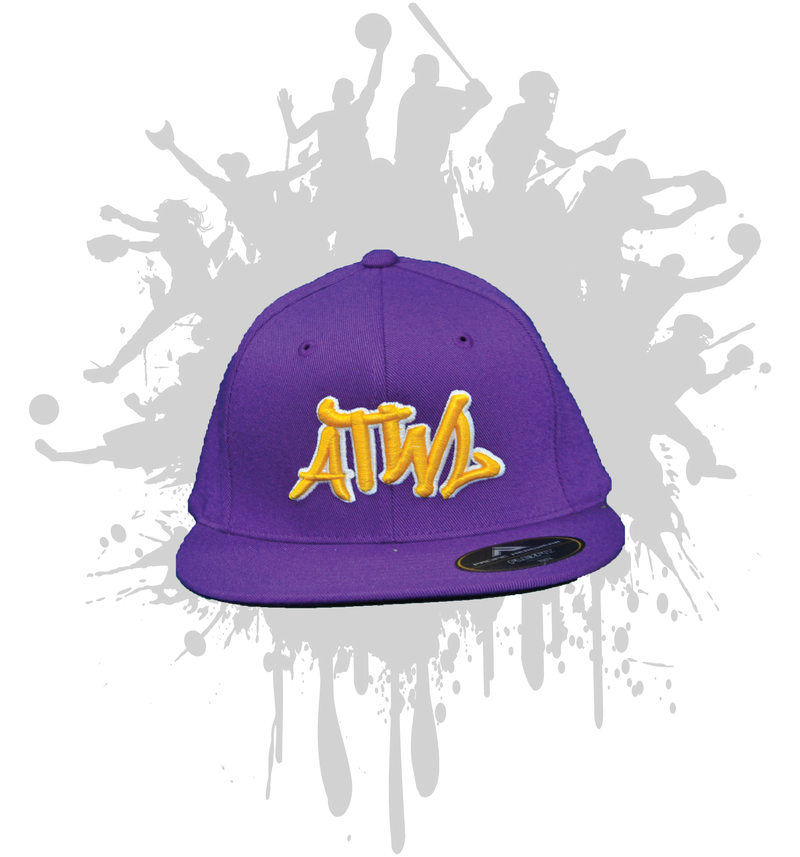 ATWL GRAFFITI 3-D  PURPLE/YELLOW/WHITE 8D5
