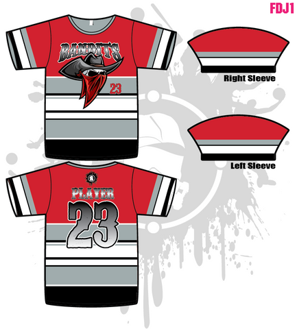 Bandits 10U Men's Full Dye Jersey