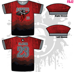 Bandits 10U Youth Men's Full Dye Jersey
