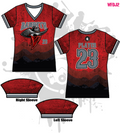 Bandits 10U Youth Women's Full Dye Jersey