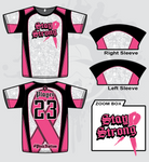 Stay Strong Mens Full Dye Jersey Cancer Awareness