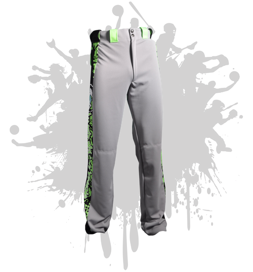 ATWL Men's Sub Dye Pant Grey/Black/Neon Green