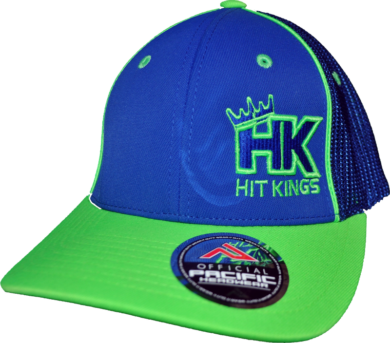 "Hit Kings ""In The Corner"" 3D 904M Promodel - Royal/ Neon Green"