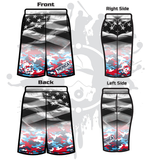 'MERICA Men's Full-Dye Shorts