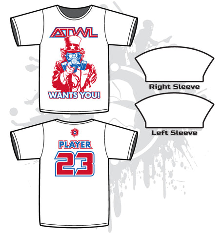 ATWL Wants You White Men's Sub-Dye Jersey