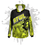 2017 Patterned Gas Mask Unisex Hoody Neon Yellow/Black