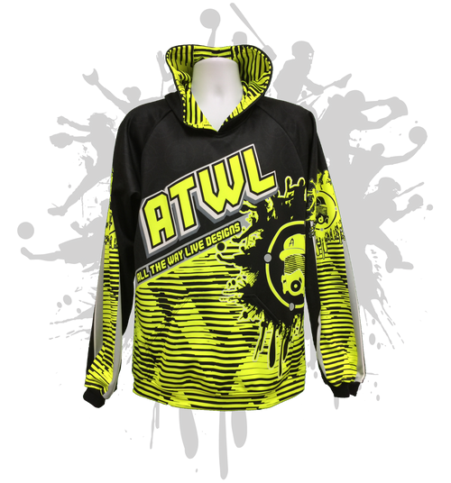 ATWL-GAS MASK Black & Neon Yellow Hoody