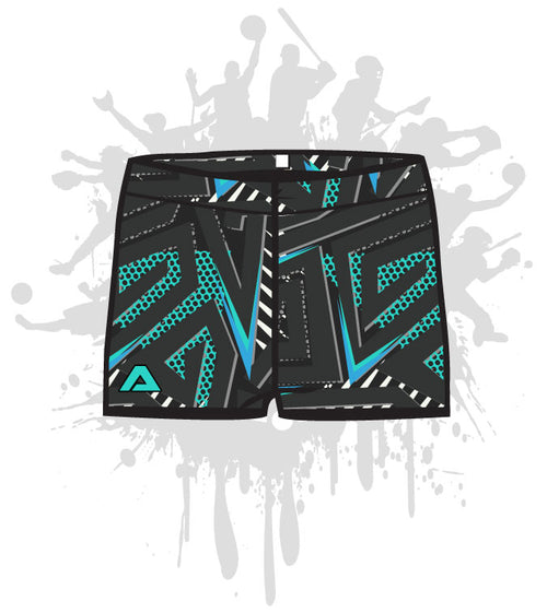 Abstract Geo Women's Compression Shorts