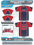 Bloomingdale Spring 2020 Womens V neck Baseball Jerseys