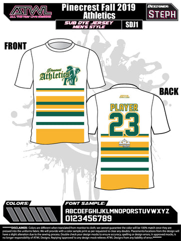 Pinecrest Fall League Men's Sub Dye Jersey