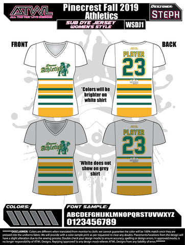Pinecrest Fall League Women's Sub Dye Jersey