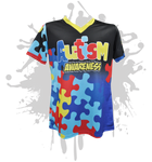 Autism Awareness Womens Full Dye Jersey