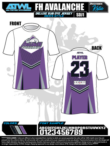 Fishhawk Fall League Men's Sub Dye Jerseys