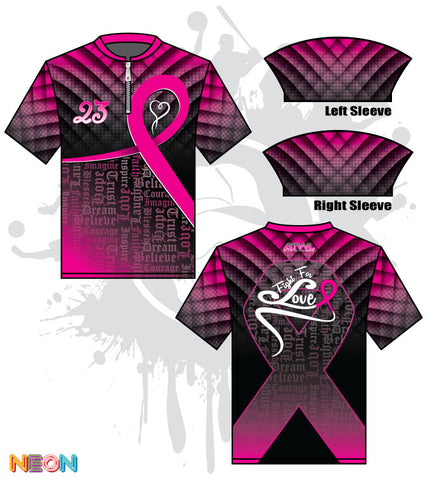 Fight For Love Cancer Awareness Batting Jacket