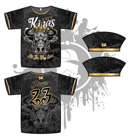 Hit Kings Animal Series Mens Full Dye Jersey (Bull)
