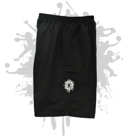 Black Microfiber Stretch Shorts