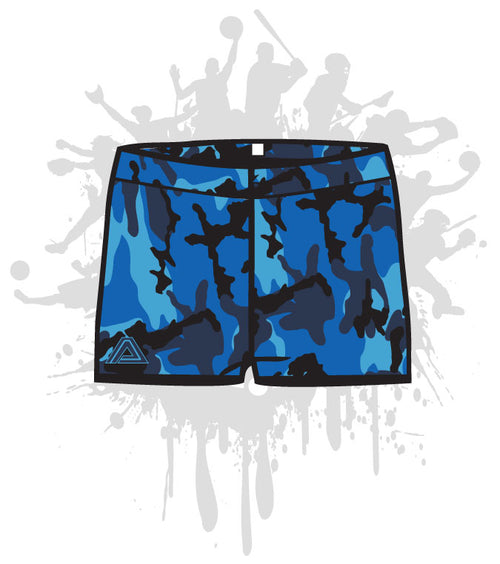 Camo Women's Compression Shorts