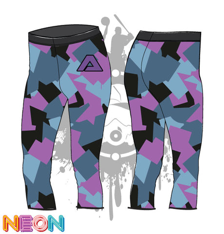 Geometric Camo Pattern Womens Leggings
