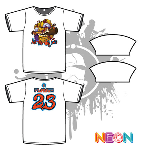 Crazy Ballz Mens White Sub Dye Jersey Crush