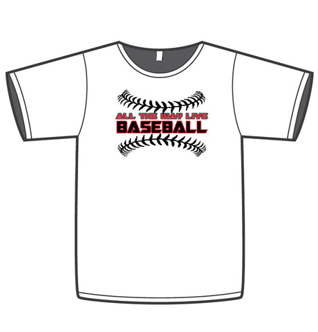 ATWL BASEBALL (BLACK/RED) MEN'S WHITE SUB DYE JERSEY
