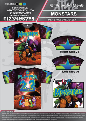Monstars Full Dye Jersey