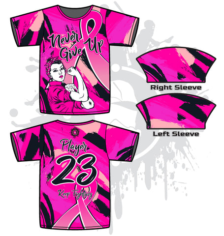 NGU Breast Cancer Awareness Men's full dye jersey