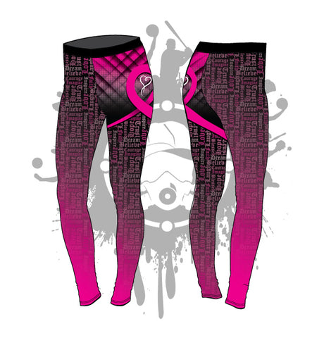 Fight For Love Cancer Awareness Full Length Leggings