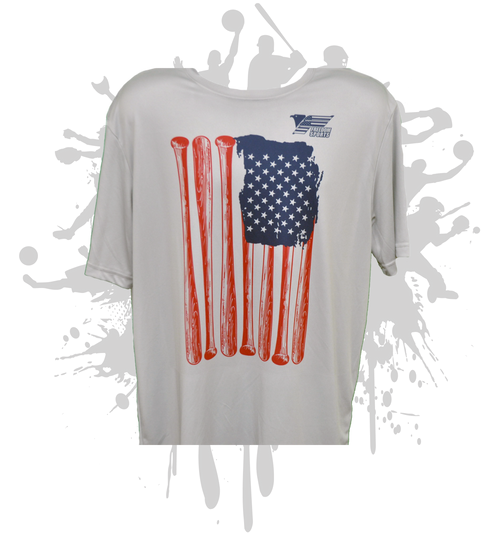 Freedom Bat Flag Men's Sub Dye Jersey
