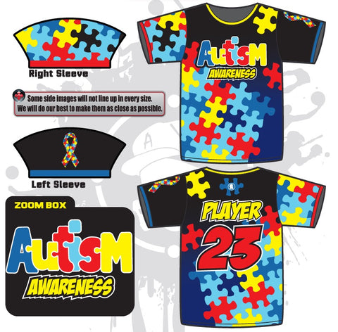 Autism Awareness Mens Full Dye Jersey