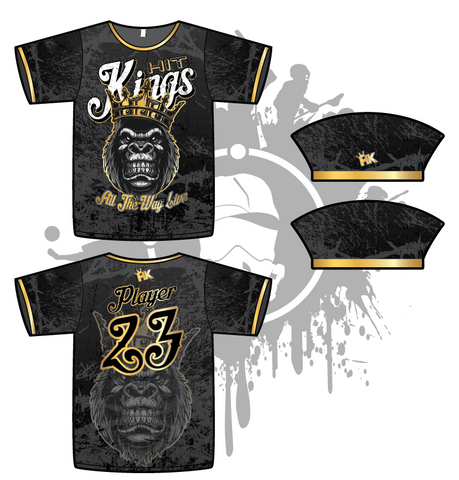 Hit Kings Animal Series Mens Full Dye Jersey (Gorilla)