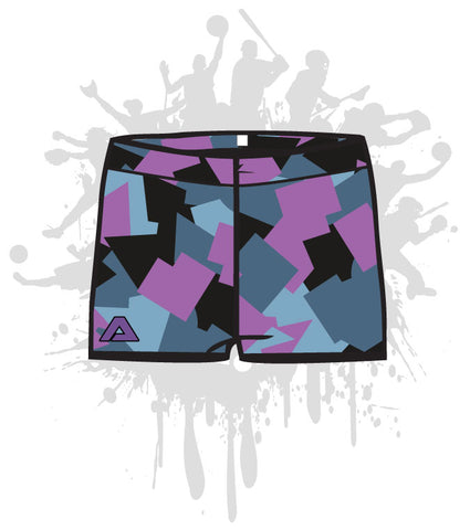Geometric Camo Women's Compression Shorts