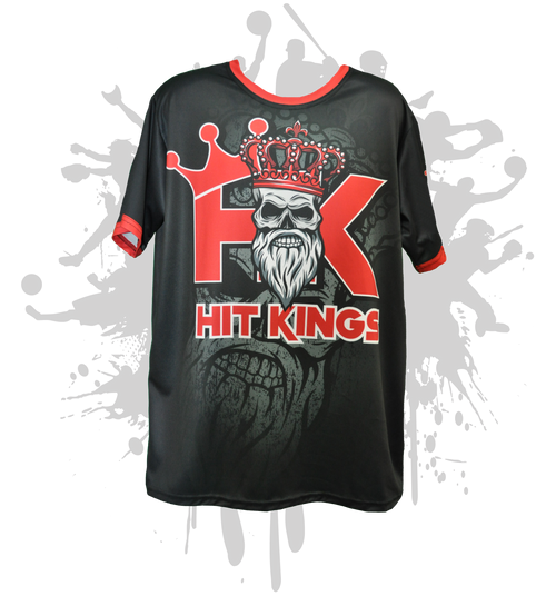 Hit Kings Bearded Skull Mens Full Dye Jersey Black/Red