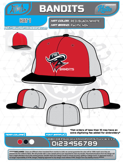 Bandits 9U Baseball Hat (Fall 2018)
