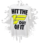 FREEDOM-Hit the F Out of It- Men's White Sub Dye Jersey